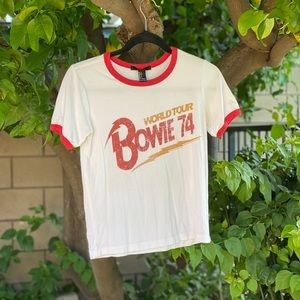 David Bowie t-shirt Forever 21.